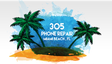 305 phone repair logo